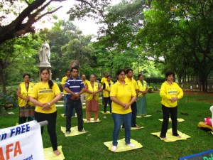 Bangalore, India: Practitioners celebrate World Falun Dafa Day