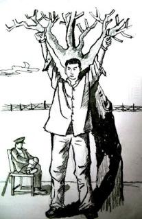 示意图:中共迫害法轮功学员的种种酷刑
